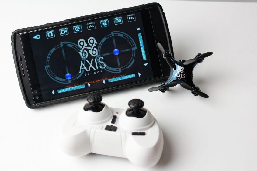 Axis Vidius controller e smartphone