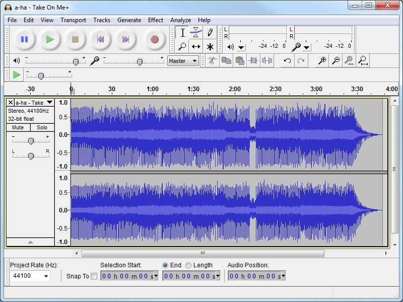 Come tagliare i file audio con Audacity