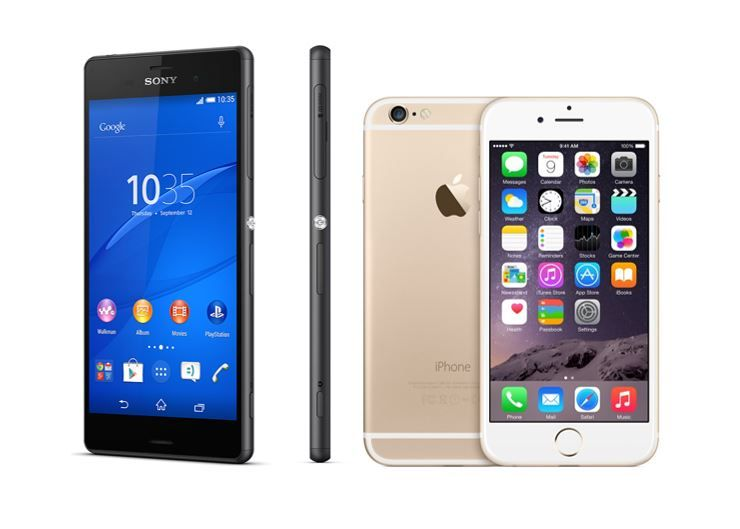Sony Xperia Z3+ vs iPhone 6