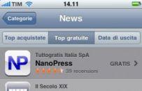Tecnocino – Nanopress App: in testa alla classifica News gratis su iPhone!