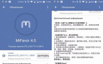 ZTE Axon 7 in aggiornamento a Android 7.1 Nougat