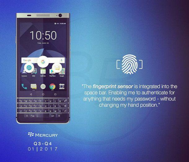 Blackberry Mercury pronto per il CES 2017 di Las Vegas?