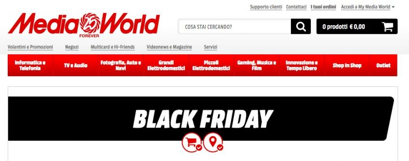 Black Friday 2016 Mediaworld