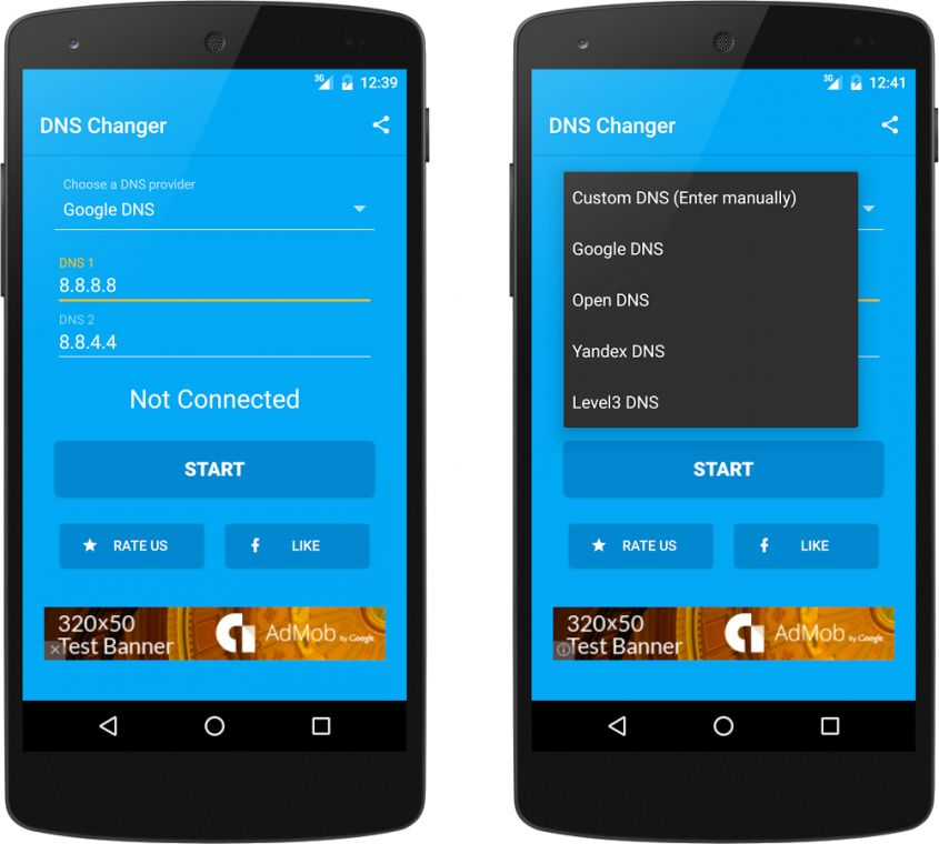 DNS Changer app Android