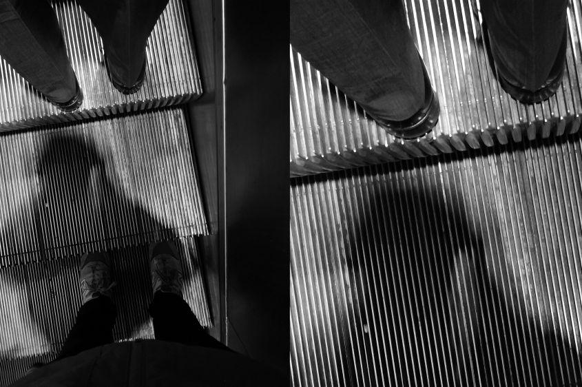 Dettaglio immagine scala mobile bianco e nero Huawei Mate 10 Pro