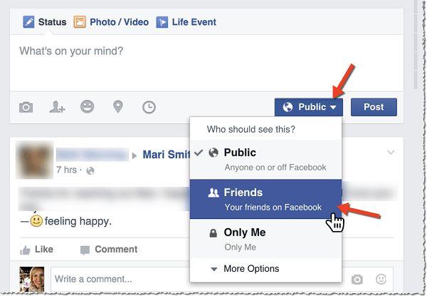 Privacy Diretta Facebook