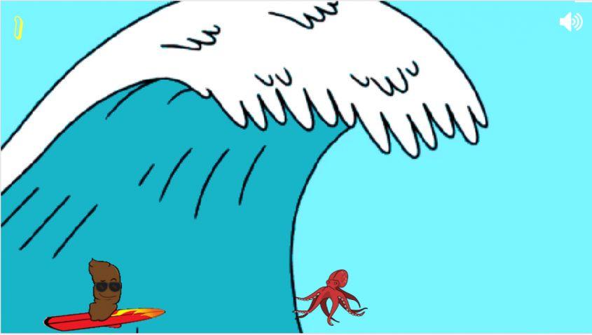Surfing Turd
