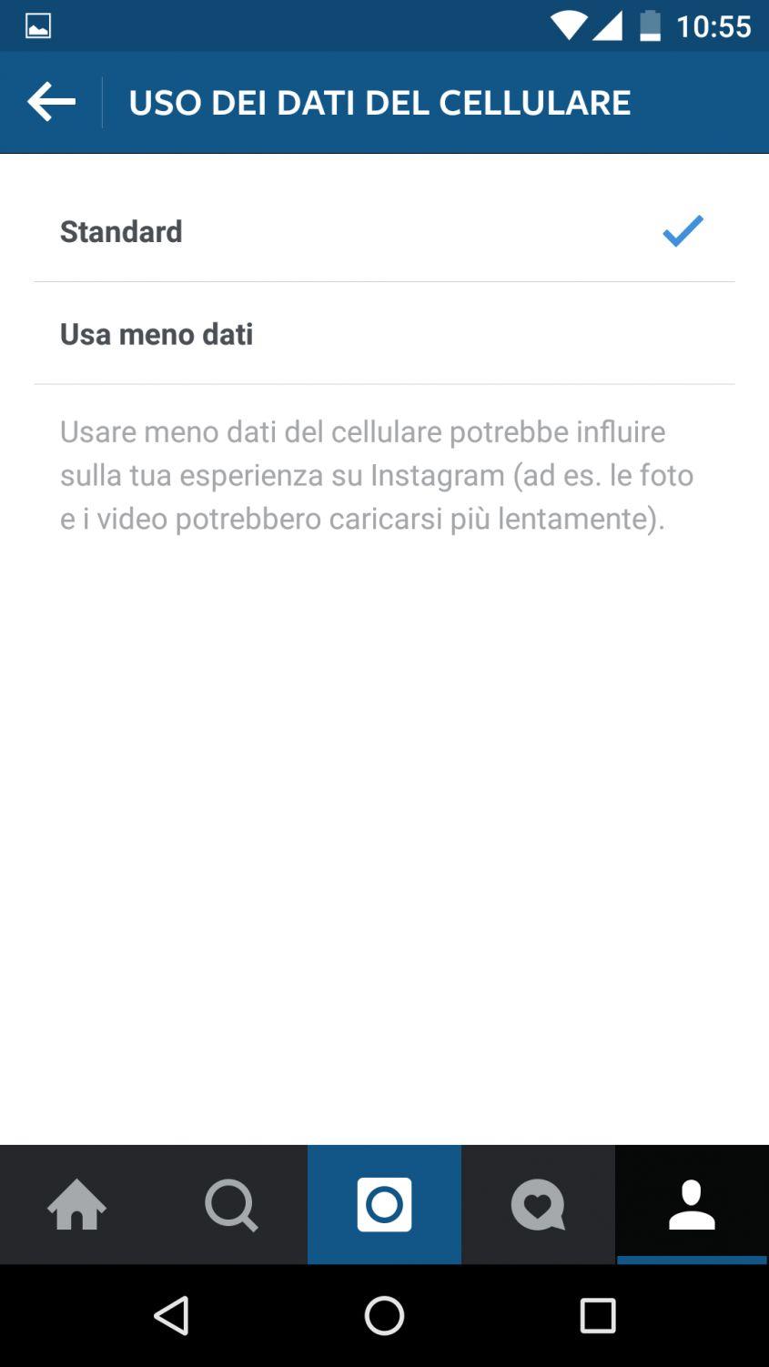Uso dati cellulare