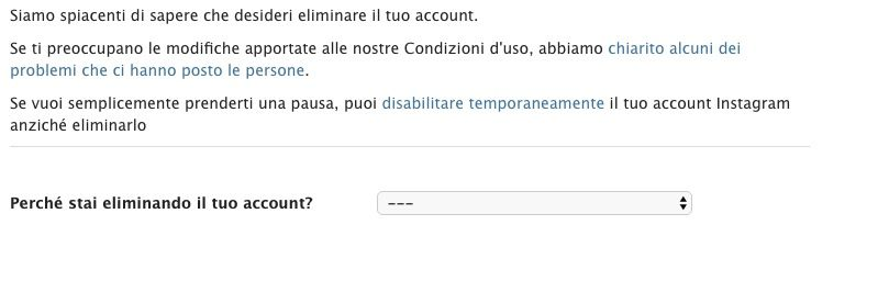 come cancellarsi da Instagram