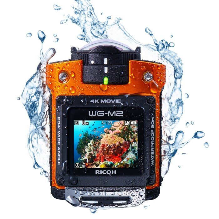 ricoh wg m2 4k actioncam waterproof
