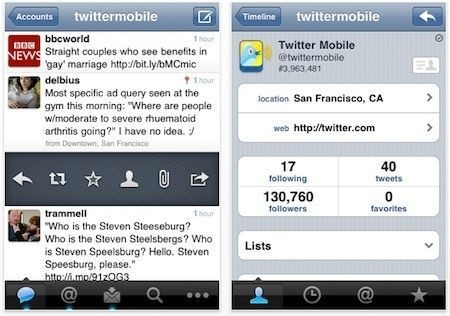 Twitter, l'applicazione ufficiale per iPhone