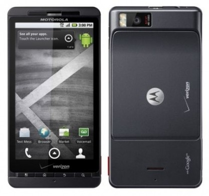 Motorola Droid X e Milestone 2 Francia