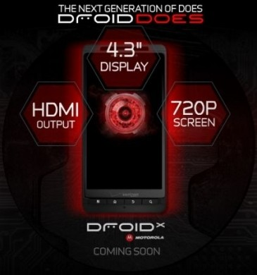 Motorola Droid X specs