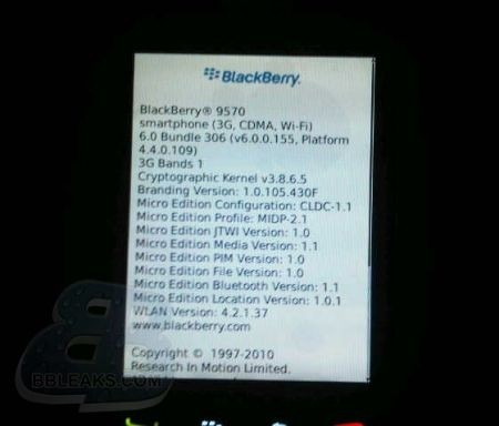 BlackBerry Storm 3 (9570) OS