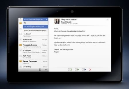 Blackberry PlayBook email