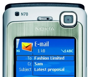 Nokia n70 email