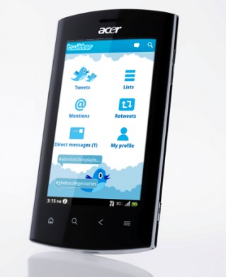 Acer Liquid Metal Twitter