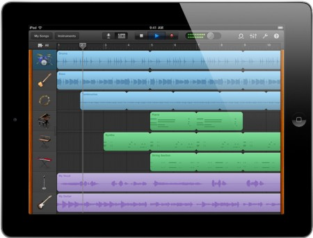 Garage Band iPad 2 loops