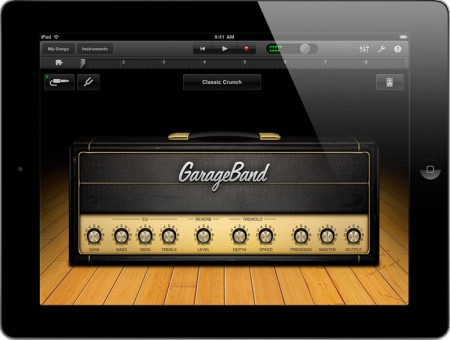 Garage Band iPad 2 home