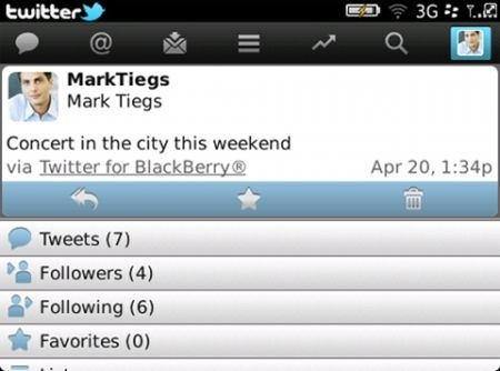 Twitter 2.0 per Blackberry home