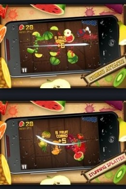 Fruit Ninja Free per Android gameplay