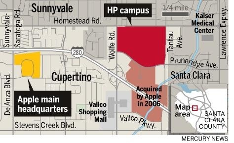 Apple Campus mappa