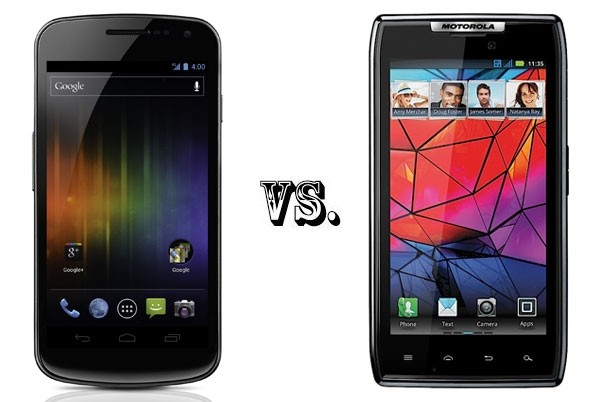 Samsung Galaxy Nexus vs Motorola Droid RAZR
