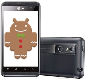 LG Optimus 3D Gingerbread