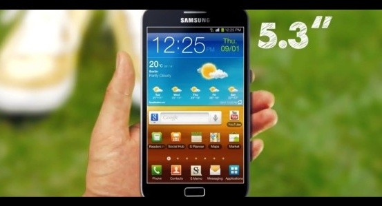 Samsung Galaxy Note schermo