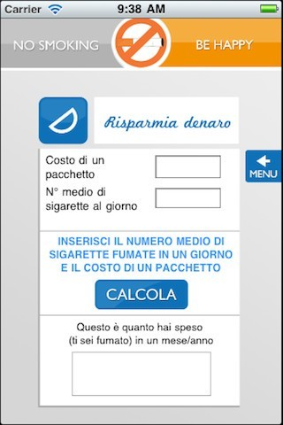 No smoking be hAPPy calcolo