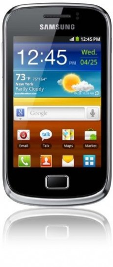 Samsung Galaxy Mini 2 fronte