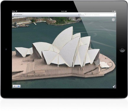 iOS 6 Mappe iPad