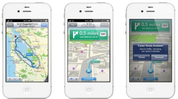 iOS 6 Mappe navigatore