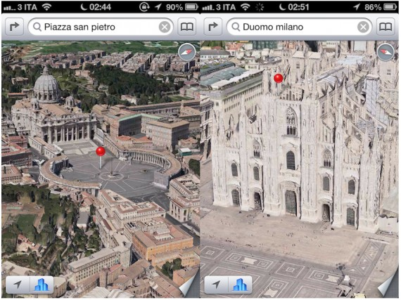 Mappe 3D Apple Roma Milano