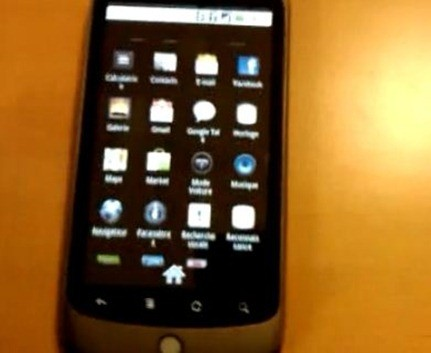 Google Nexus One menu