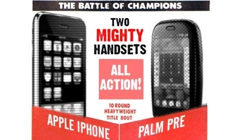 iPhone 3GS vs Palm Pre Plus fight