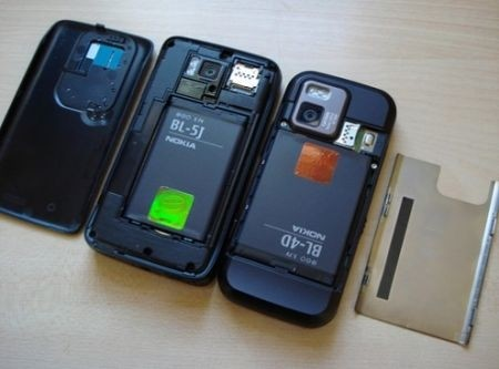 Nokia N900 vs Nokia N97 Mini batterie