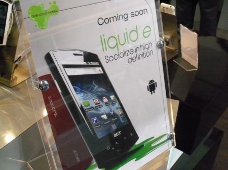 Acer Liquid E touchscreen