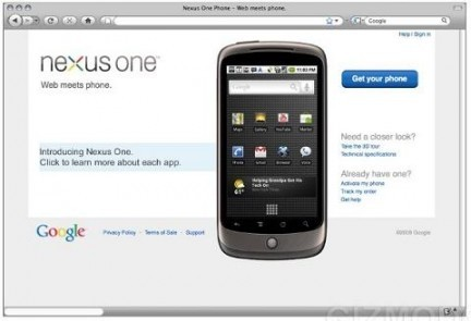 Nexus One calo prezzo