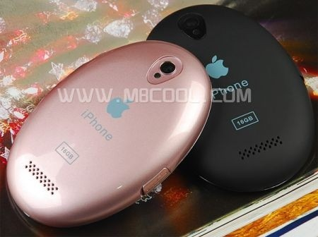 Clone iPhone ovale a specchio retro