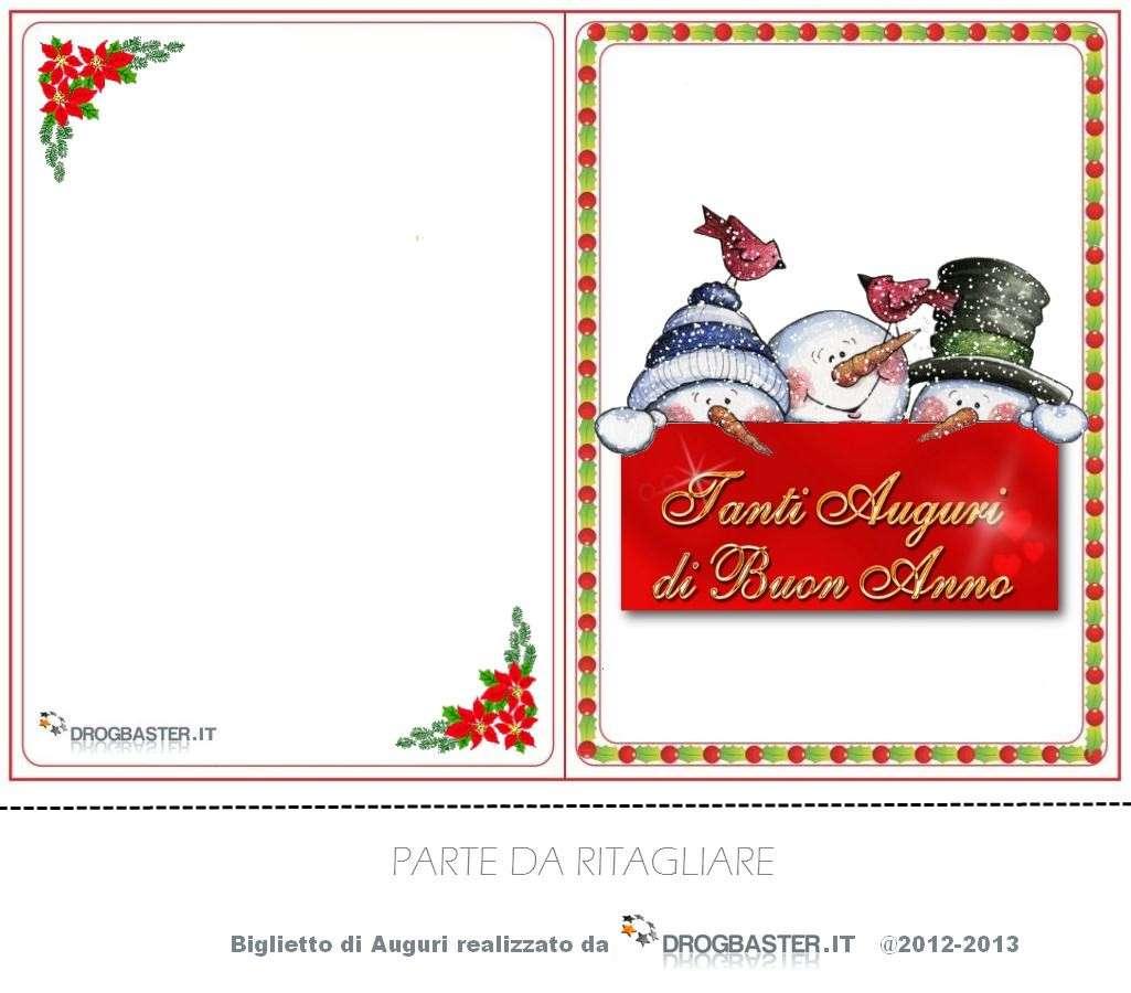 bglietti auguri Natale pupazzi di neve