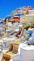 Vista del paese di Santorini
