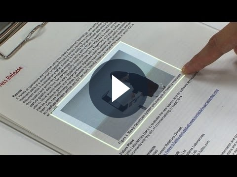 Fujitsu trasforma la carta in un touchscreen [VIDEO]