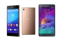 Sony Xperia Z3+ vs Samsung Galaxy Note 4: differenze e confronto